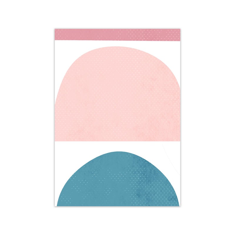 Abstract Blue and Pink Original A1 Print Only