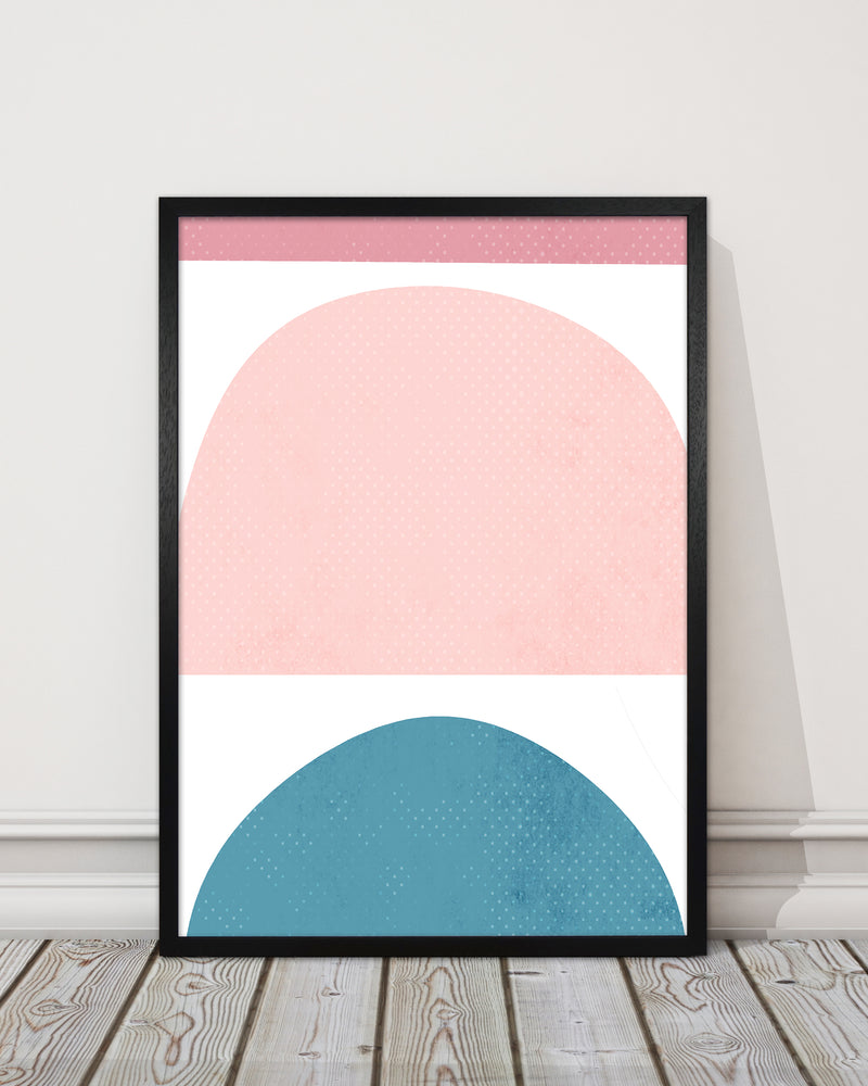 Abstract Blue and Pink Original
