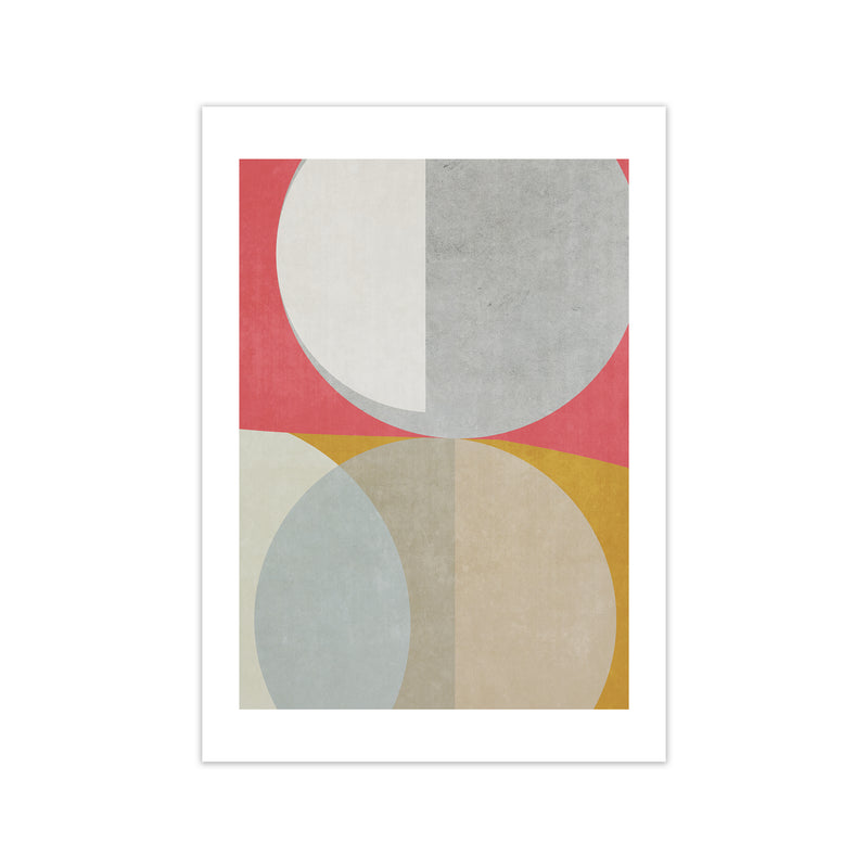 Abstract Colourful Circles Original  A1 Print Only