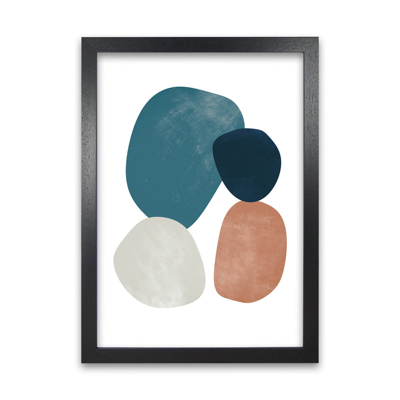 Abstract Earth Shapes Print Original A1 Black Grain Frame