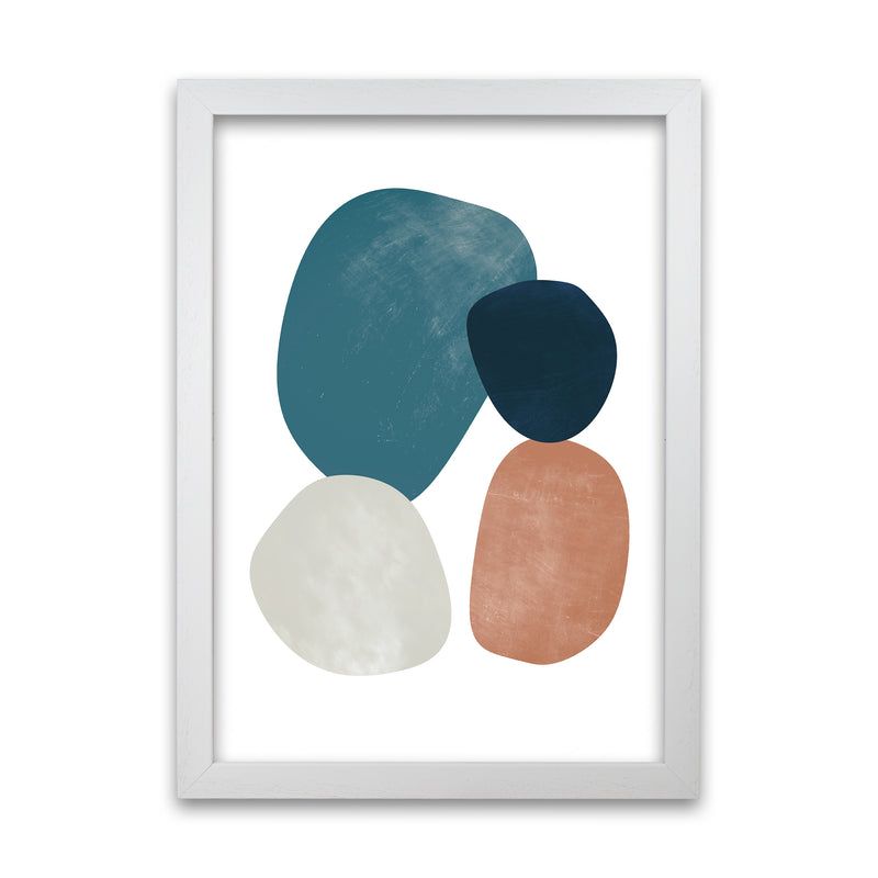 Abstract Earth Shapes Print Original A1 White Grain Frame