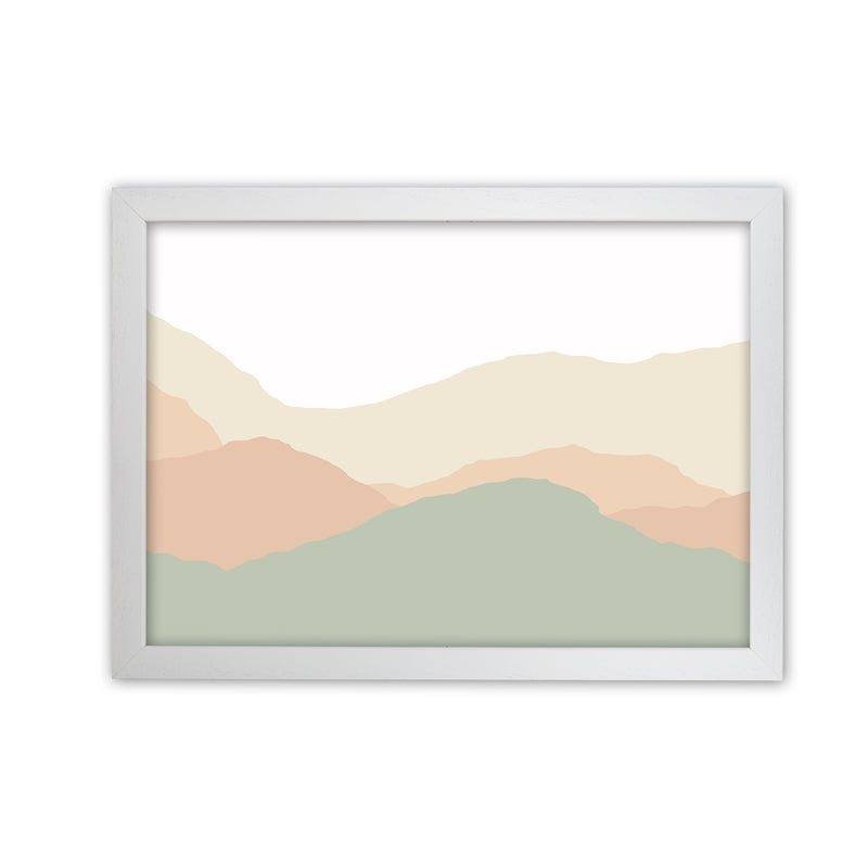 Abstract Landscape Light print  A1 White Grain Frame