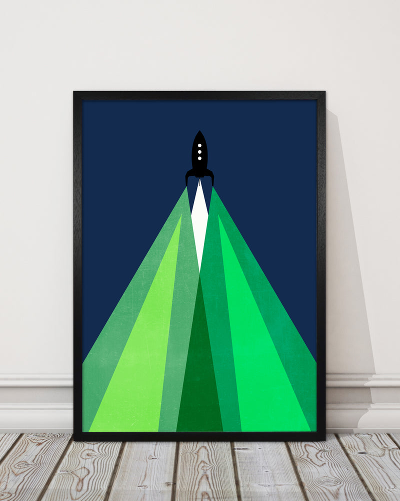 Green and Blue Kids Rocket