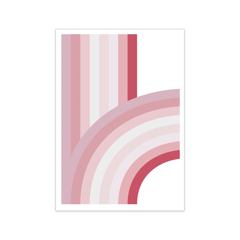Pink Nursery Rainbow Wall Art A1 Print Only