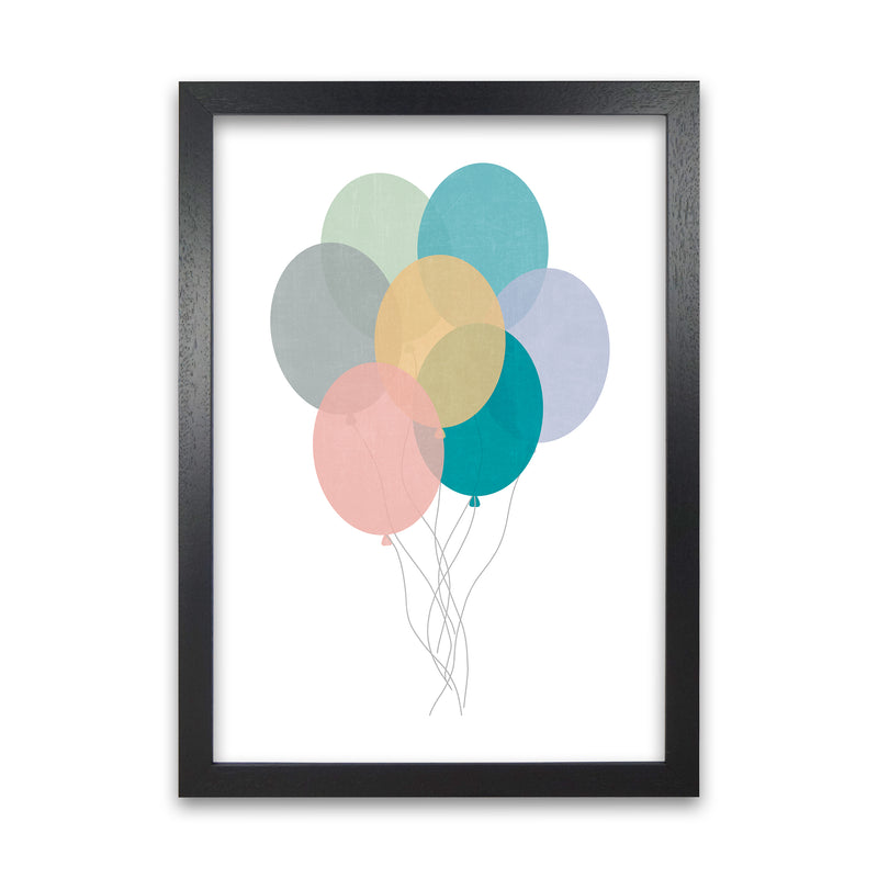Nursery Collection Balloons A1 Black Grain Frame