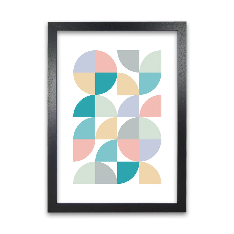 Abstract Pastel Nursery Print A A1 Black Grain Frame