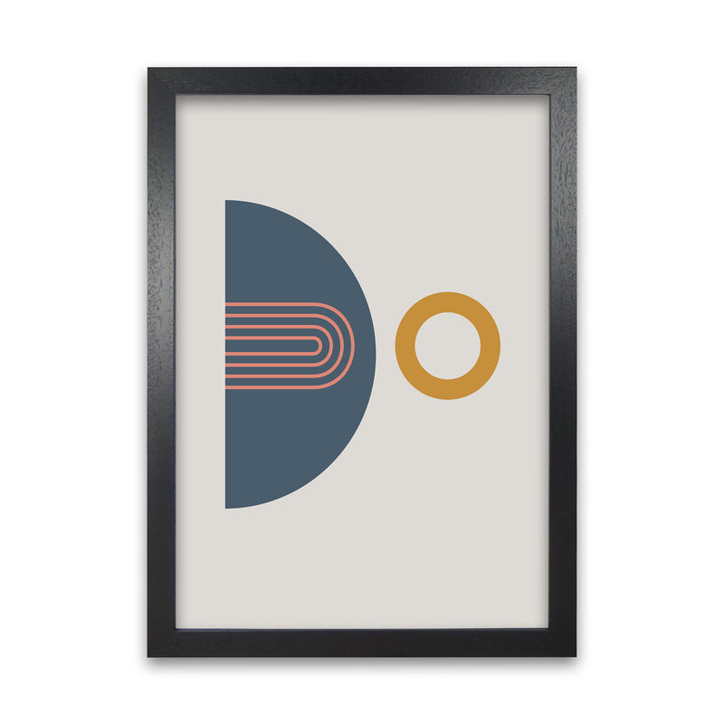 Mid Century Modern Prints on Grey B A1 Black Grain Frame