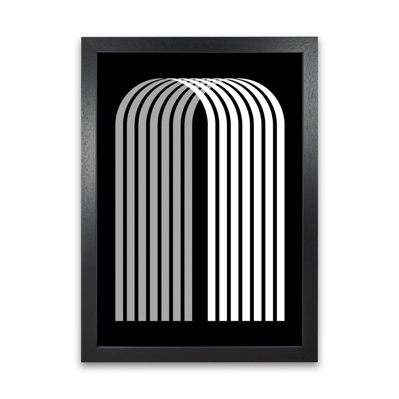 Modern BW Geometric Original  A1 Black Grain Frame