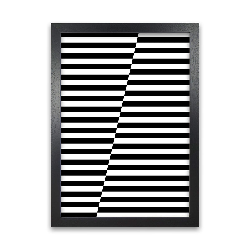 Black and White Stripe ALT A1 Black Grain Frame