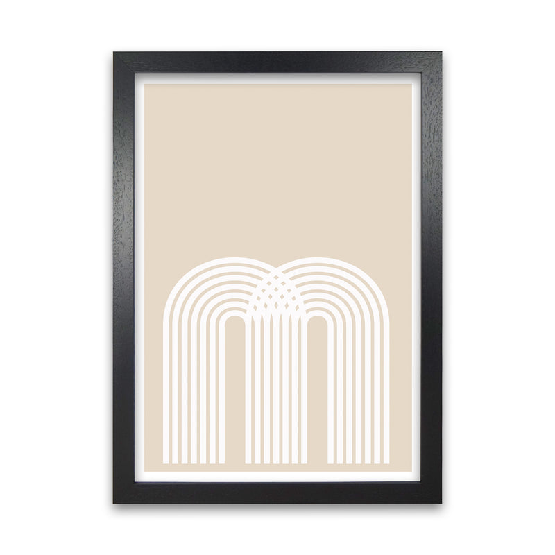 Art Deco Neutral Original  A1 Black Grain Frame