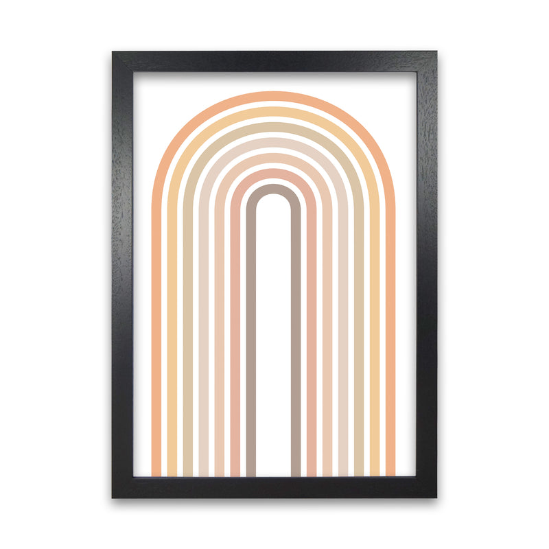 Muted Rainbow Print Original  A1 Black Grain Frame