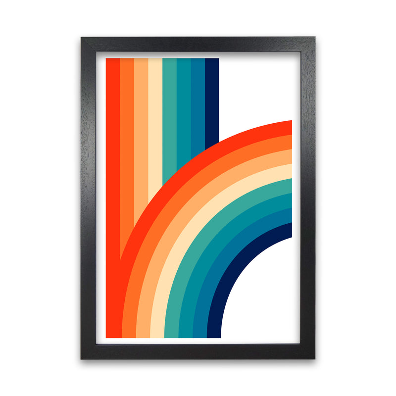 Rainbow Curve One Original  A1 Black Grain Frame