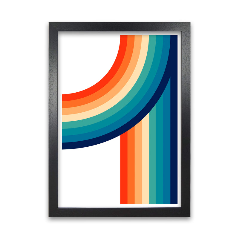 Rainbow Curve Two Original  A1 Black Grain Frame