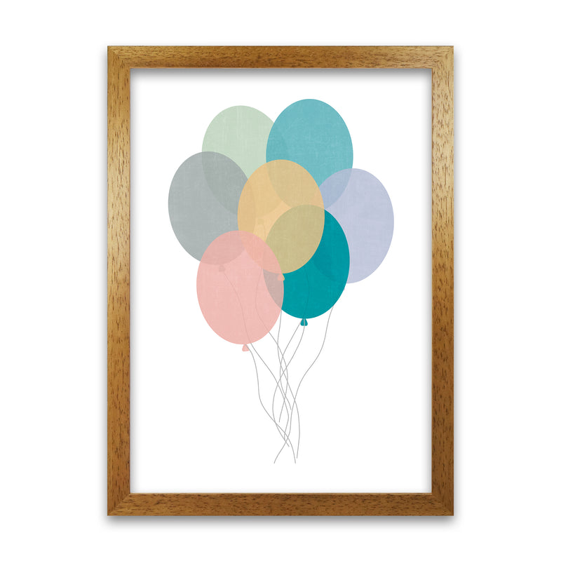 Nursery Collection Balloons A1 Honey Oak Frame