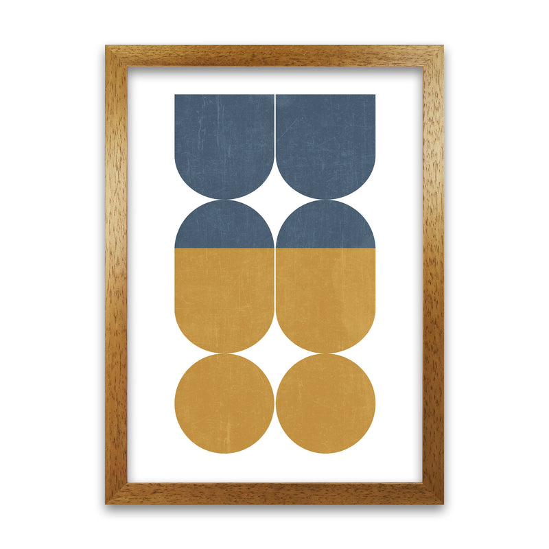 Abstract Art B A1 Honey Oak Frame
