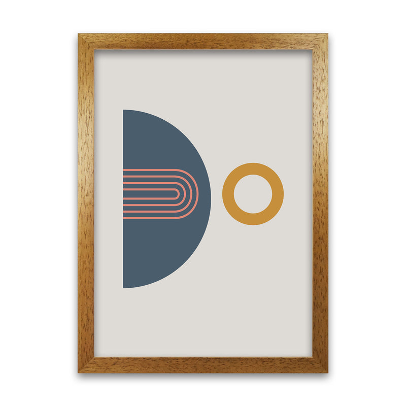 Mid Century Modern Prints on Grey B A1 Honey Oak Frame