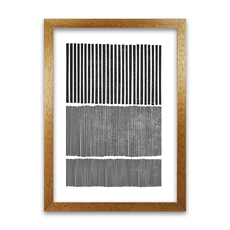 Mid Century Modern Lines Original A1 Honey Oak Frame