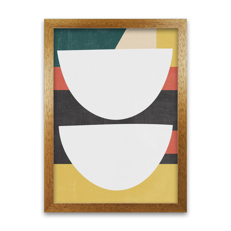 Mid Century Modern Art Print B A1 Honey Oak Frame