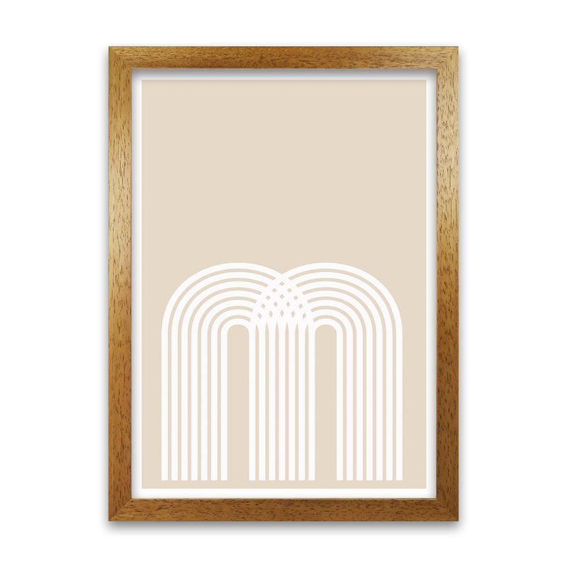 Art Deco Neutral Original  A1 Honey Oak Frame