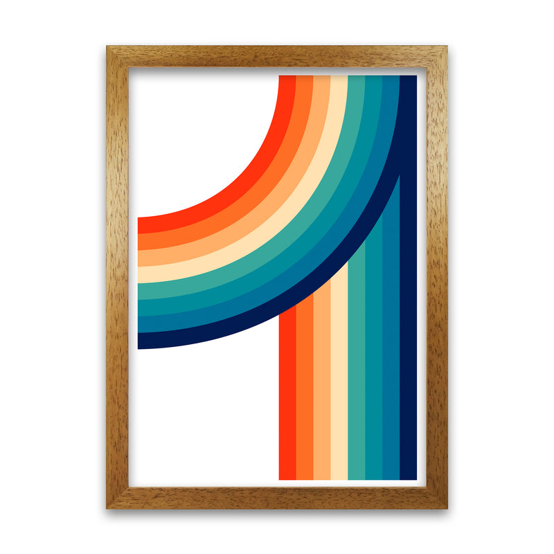 Rainbow Curve Two Original  A1 Honey Oak Frame