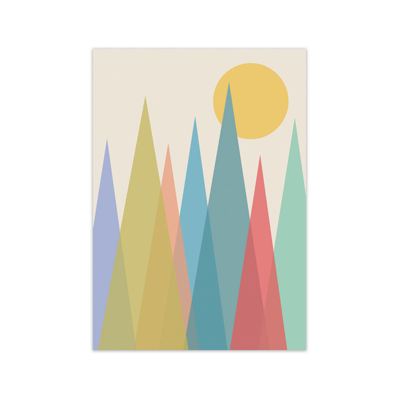 Day and Night Nursery Mid Century Modern Art Print A1 Print Only