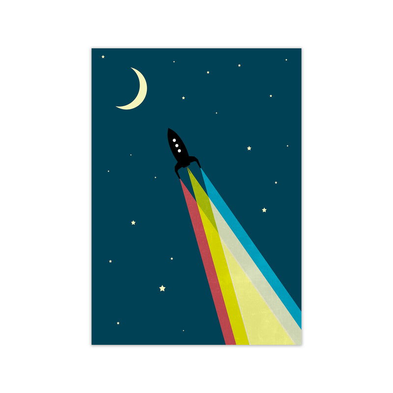 Rocket Bedroom Print A A1 Print Only