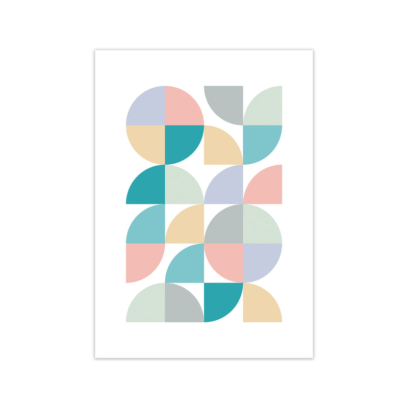 Abstract Pastel Nursery Print A A1 Print Only