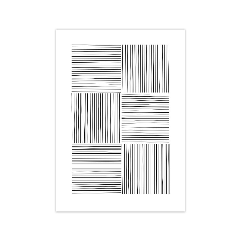Black and White Squared Lines A1 Print Only