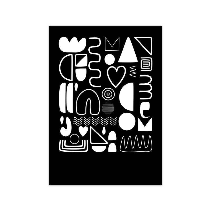 White and Black Scandi Shapes A1 Print Only