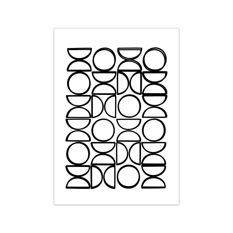 Black and White Mid Century Geometric Print A A1 Print Only