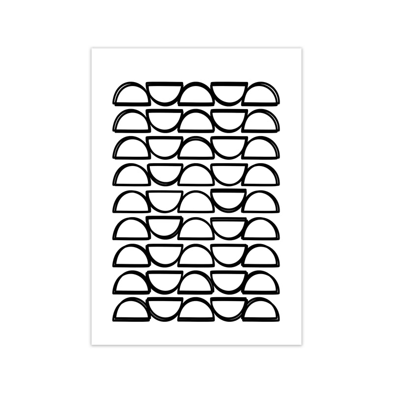 Black and White Mid Century Geometric Print B A1 Print Only
