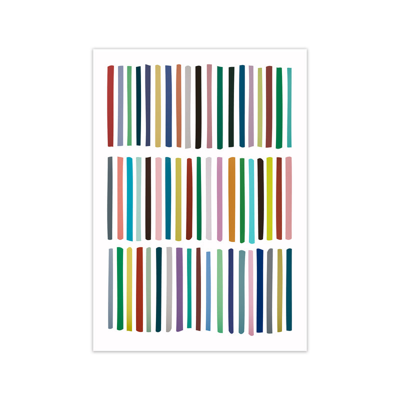 Scandinavian Multicolour Lines Original  A1 Print Only