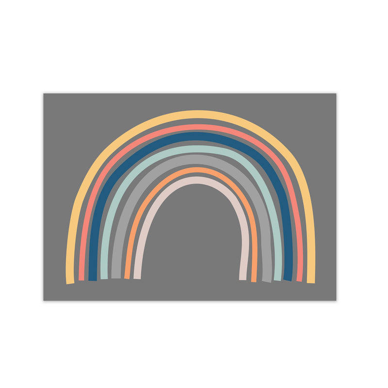 Rainbow on Gray Original  A1 Print Only
