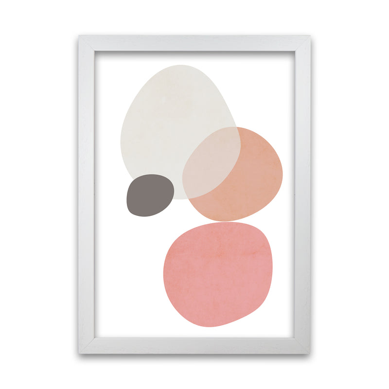 Pink and Grey Nursery Wall Art Print B A1 White Grain Frame