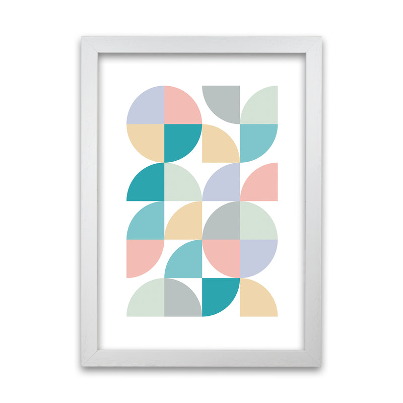 Abstract Pastel Nursery Print A A1 White Grain Frame