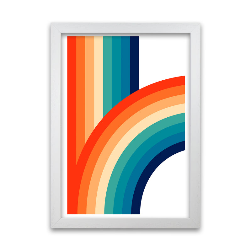 Rainbow Curve One Original  A1 White Grain Frame