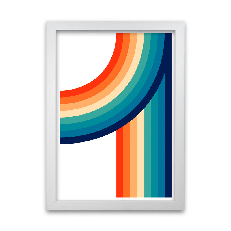 Rainbow Curve Two Original  A1 White Grain Frame