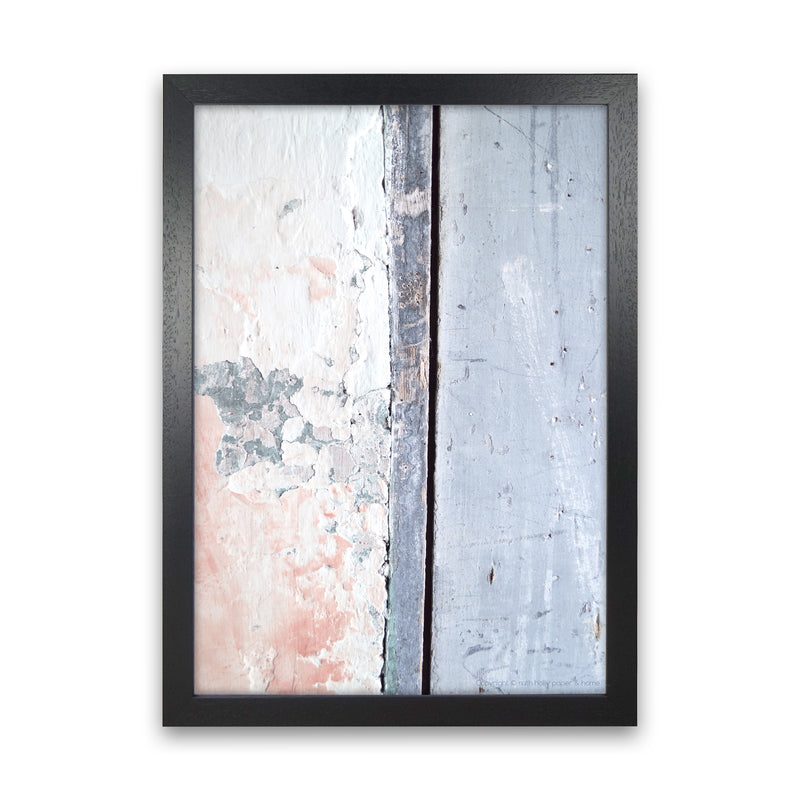 Pink And Blue With Vertical Line   by Ruth Holly A1 Black Frame