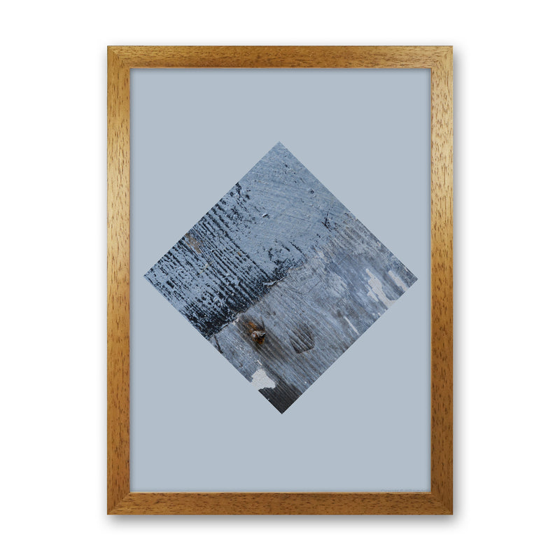 Blue Square On Pale Blue   by Ruth Holly A1 Oak Frame