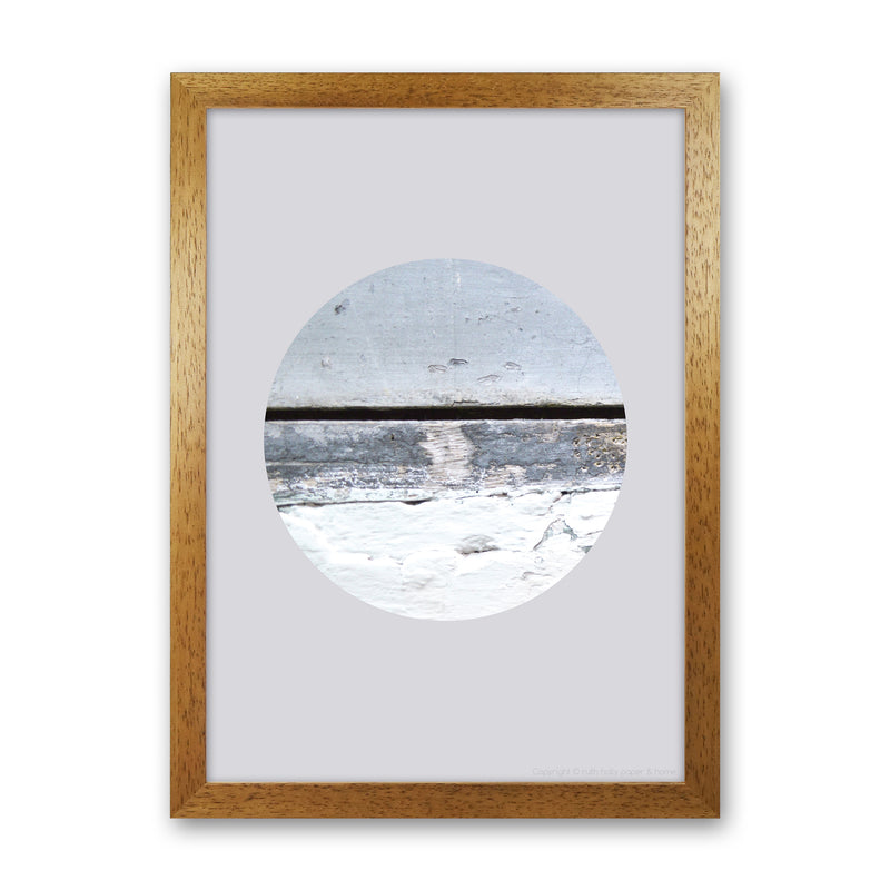 Blue Circle With Horizontal Line   by Ruth Holly A1 Oak Frame