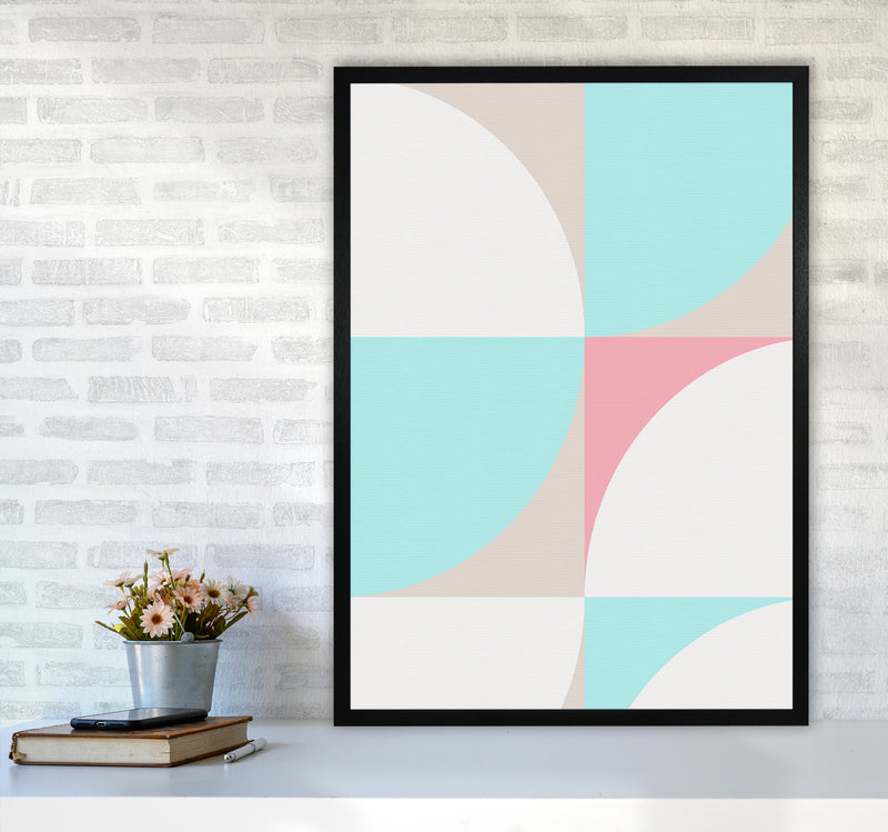 Scandinavian Shapes I A1Black Frame