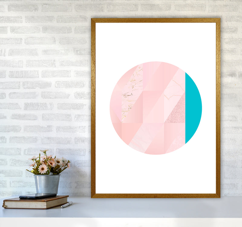 Pink Marble Circle II Abstract Art Print by Seven Trees Design