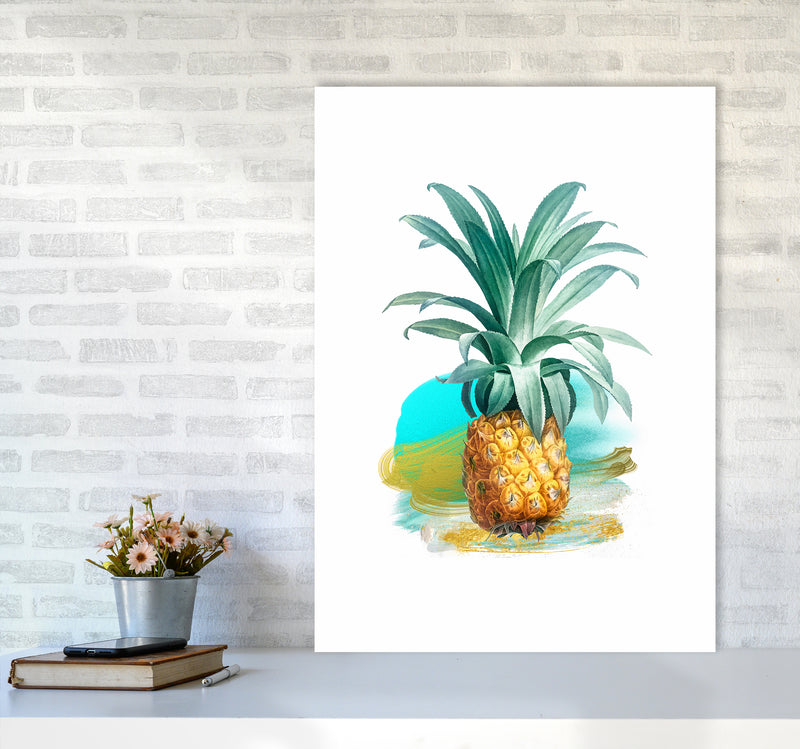 Modern Pineapple Kitchen Art Print by Seven Trees Design