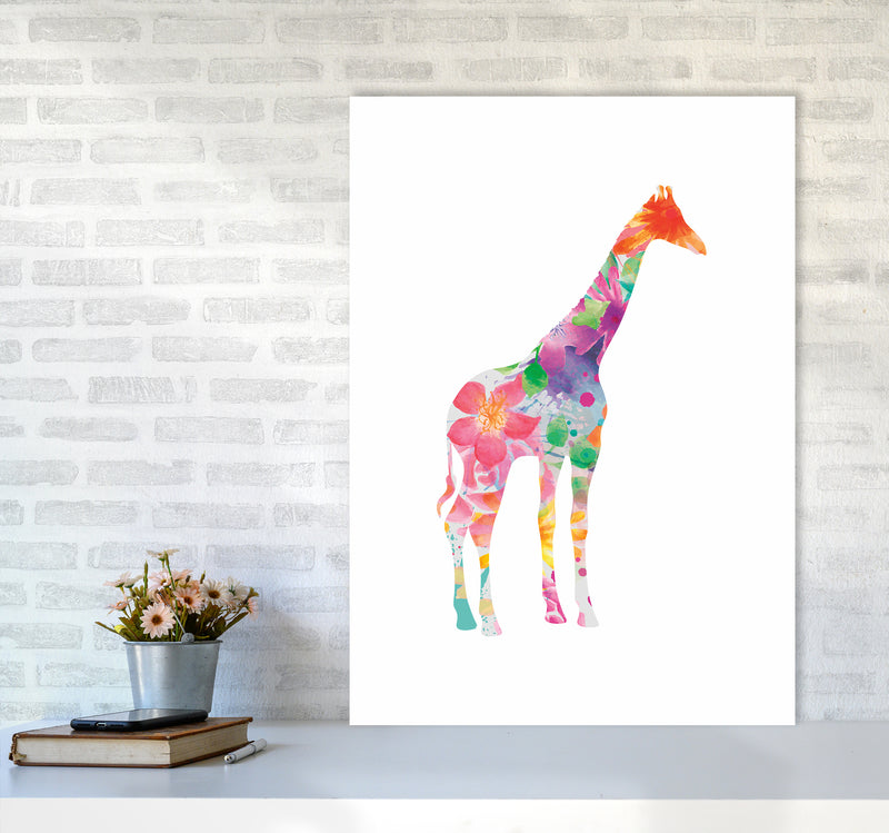 The Floral Giraffe A1 Print Only