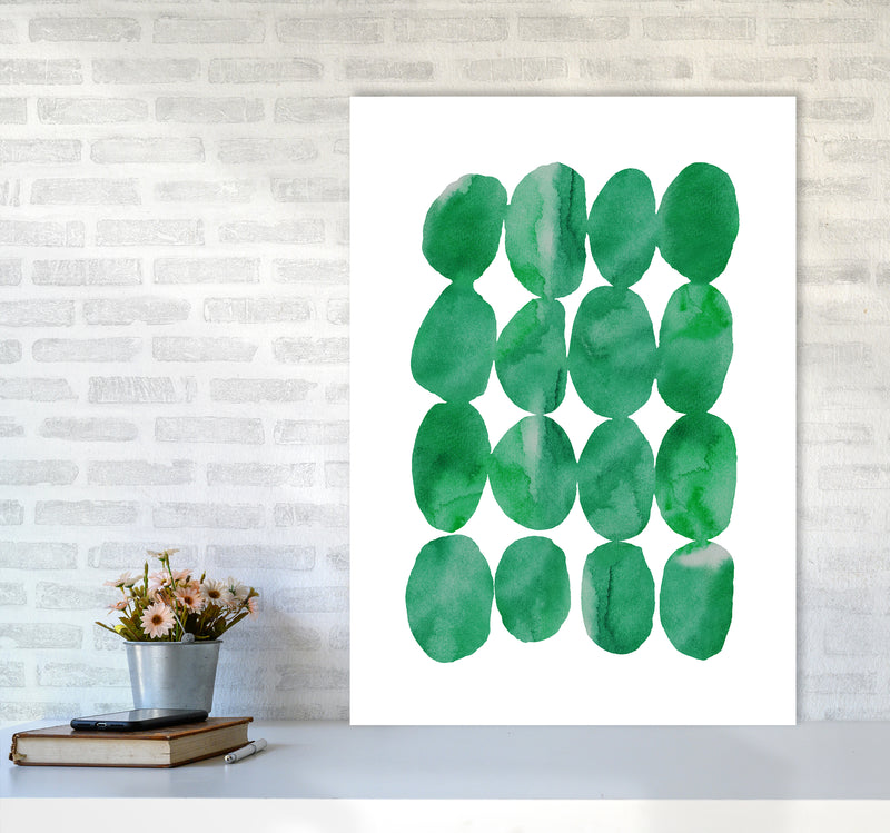 Watercolor Emerald Stones A1 Print Only