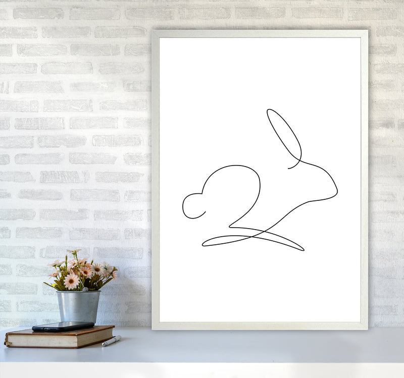 One Line Rabbit Art Print by Seven Trees Design