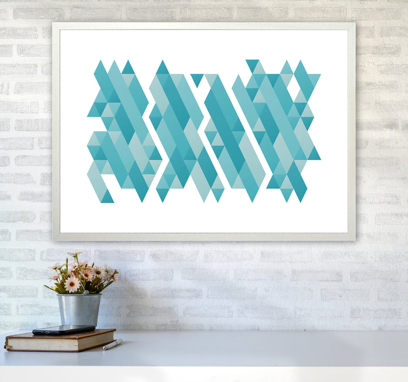 Pieces Of Mountains Abstract Art Print by Seven Trees Design