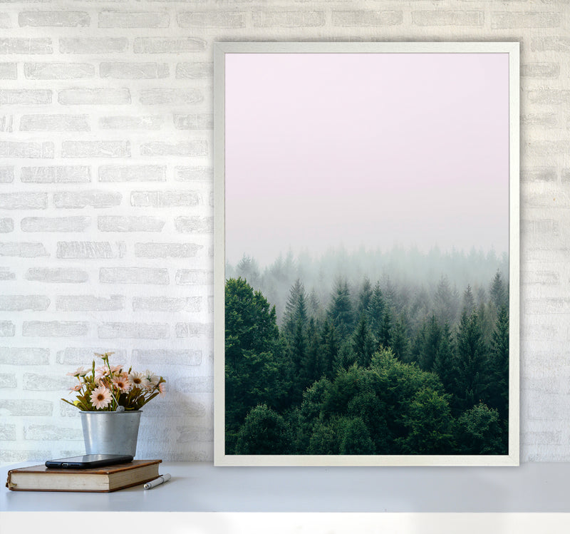 The Fog And The Forest I A1 White Frame