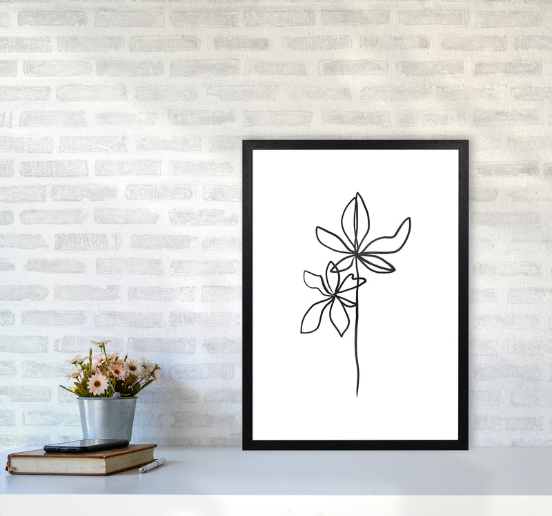 Lines Leaves I Art Print by Seven Trees Design