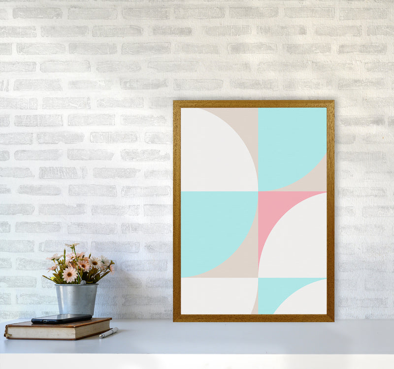 Scandinavian Shapes I A2 Oak Frame